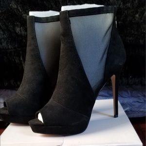ALDO Black Suede Booties, Brand New!